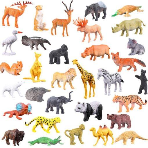 53pcs Set Mini Animal World Zoo Model Action Character Toy Cartoon Simulation Animal Cute Plastic Collection 1