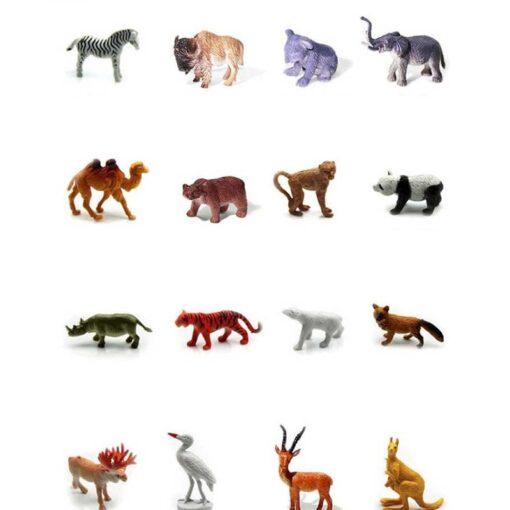 53pcs Set Mini Animal World Zoo Model Action Character Toy Cartoon Simulation Animal Cute Plastic Collection 3
