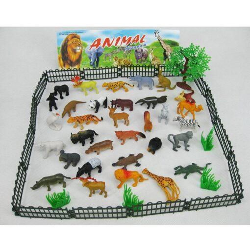 53pcs Set Mini Animal World Zoo Model Action Character Toy Cartoon Simulation Animal Cute Plastic Collection 5