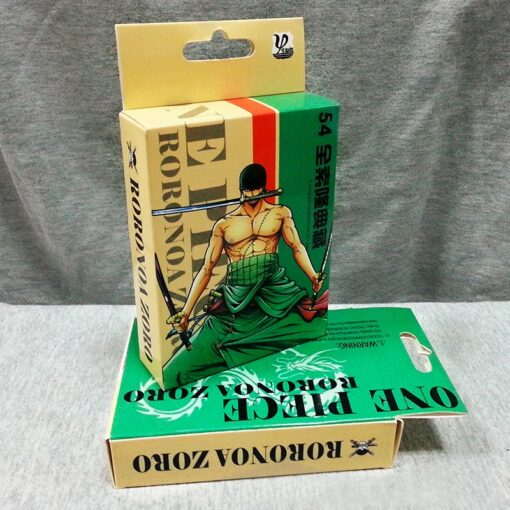 54Pcs set One Piece Figures Collection Monkey D Luffy Poker Card Roronoa Zoro Playing Cards Color 2
