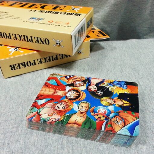 54Pcs set One Piece Figures Collection Monkey D Luffy Poker Card Roronoa Zoro Playing Cards Color 4