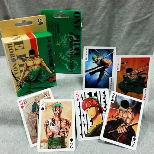 54Pcs set One Piece Figures Collection Monkey D Luffy Poker Card Roronoa Zoro Playing Cards Color 5