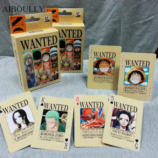54Pcs set One Piece Figures Collection Monkey D Luffy Poker Card Roronoa Zoro Playing Cards Color