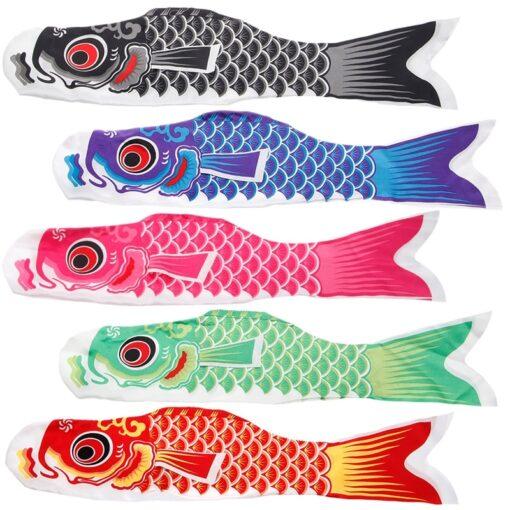 55cm 70cm 100cm 150cm Koi Nobori Carp Wind Socks Koinobori Colorful Fish Flag Hanging Wall Decor 1