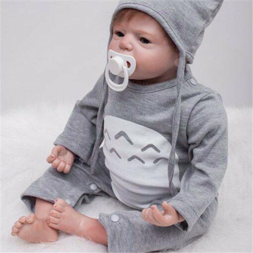 55cm Bebes Boneca Reborn Corpo De Silicone Inteiro Real Reborn Baby Dolls cloth Body Vinyl Newborn 5