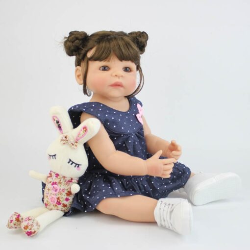 55cm Full Silicone Vinyl Body Reborn Girl Lifelike Baby Doll Newborn Princess Toddler Toy Bonecas Waterproof 2