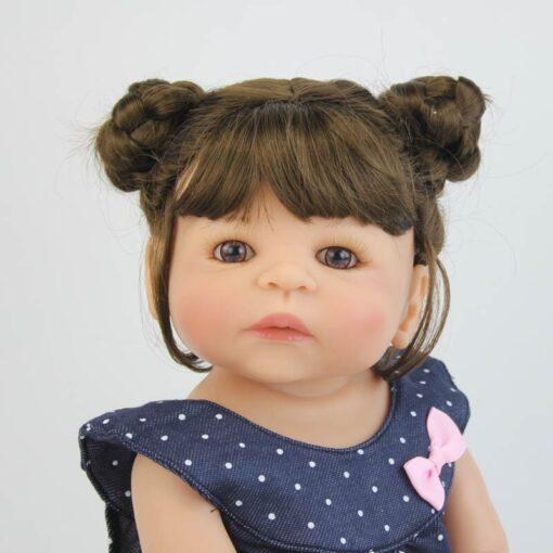 55cm Full Silicone Vinyl Body Reborn Girl Lifelike Baby Doll Newborn Princess Toddler Toy Bonecas Waterproof 3