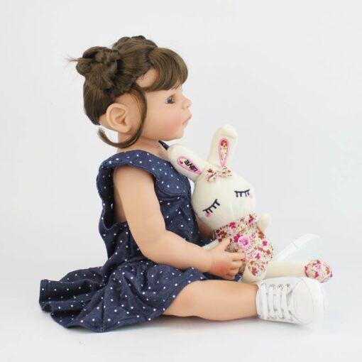 55cm Full Silicone Vinyl Body Reborn Girl Lifelike Baby Doll Newborn Princess Toddler Toy Bonecas Waterproof 4