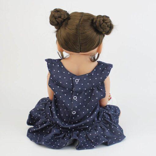 55cm Full Silicone Vinyl Body Reborn Girl Lifelike Baby Doll Newborn Princess Toddler Toy Bonecas Waterproof 5