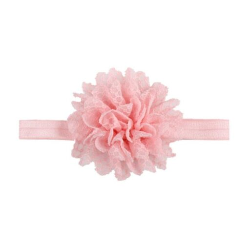 5Colors Newborn Baby Lace Mesh Flower Stretch Head Folral Girl Headband Mesh Grid 1PCS Elastic Headwears 2
