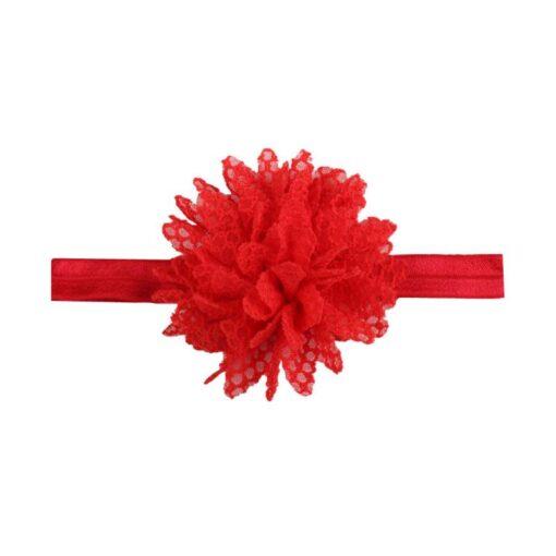 5Colors Newborn Baby Lace Mesh Flower Stretch Head Folral Girl Headband Mesh Grid 1PCS Elastic Headwears 3