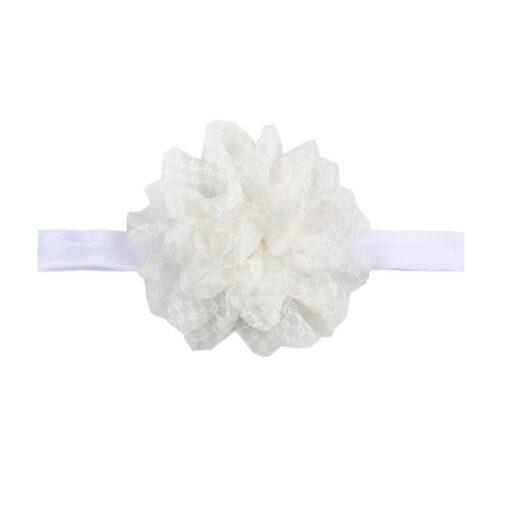 5Colors Newborn Baby Lace Mesh Flower Stretch Head Folral Girl Headband Mesh Grid 1PCS Elastic Headwears 4
