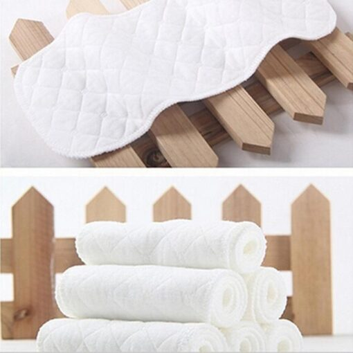 5PCS Baby diaper cloth baby insert Bamboo Eco cotton diapers Disposable Diapers baby nappy Baby stoffwindeln 4