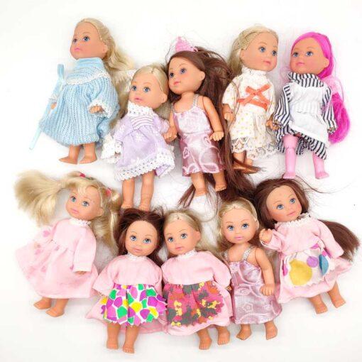5PCS LOT 11cm Mini Kelly Dolls Toys For Girls Birthday Gift 1