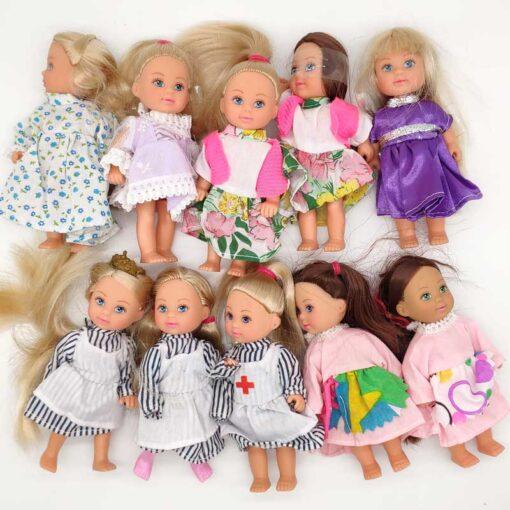 5PCS LOT 11cm Mini Kelly Dolls Toys For Girls Birthday Gift 2
