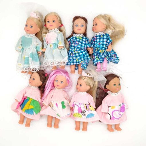 5PCS LOT 11cm Mini Kelly Dolls Toys For Girls Birthday Gift 3