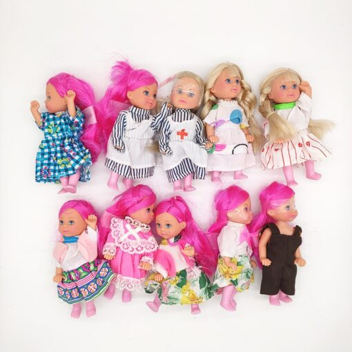 5PCS LOT 11cm Mini Kelly Dolls Toys For Girls Birthday Gift 4