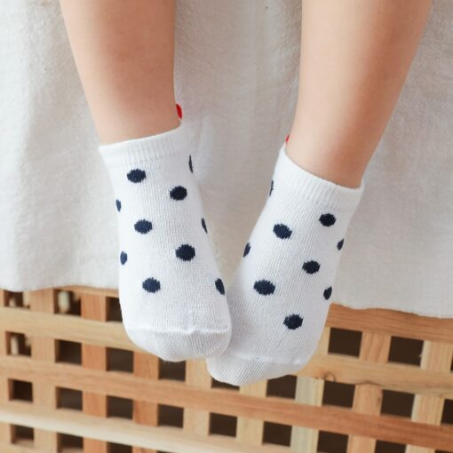 5Pairs lot 0 2Y Cute Lovely Short Baby Socks Red Heart for Girls Cotton Mesh Cute 3