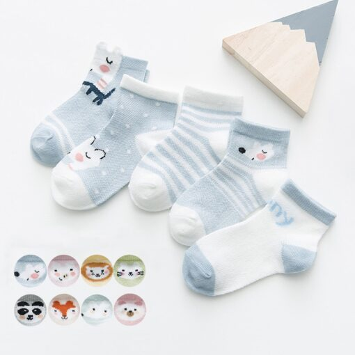 5Pairs lot 0 2Y Infant Baby Socks Baby Socks for Girls Cotton Mesh Cute Newborn Boy 1
