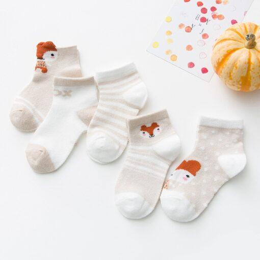 5Pairs lot 0 2Y Infant Baby Socks Baby Socks for Girls Cotton Mesh Cute Newborn Boy 4