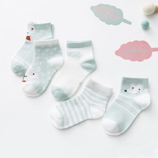 5Pairs lot 0 2Y Infant Baby Socks Baby Socks for Girls Cotton Mesh Cute Newborn Boy 5