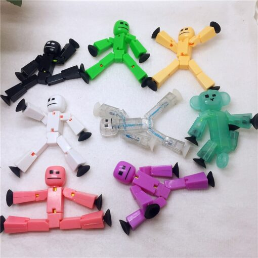 5pcs different models randomly stikbot bag Suction Cup Deformable stick Robot action figure children gifts stickbots 3