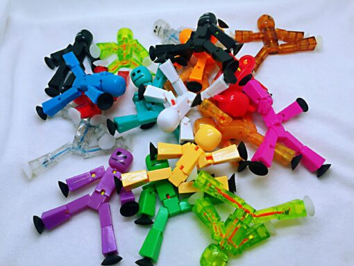 5pcs different models randomly stikbot bag Suction Cup Deformable stick Robot action figure children gifts stickbots 5