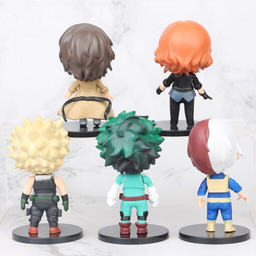 5pcs set My Hero Academia Figure Toy Midoriya Izuku bakugo katsuki Todoroki Shoto Iida Tenya PVC 1