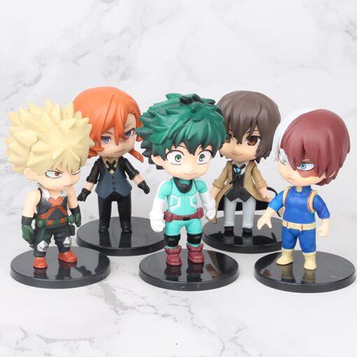 5pcs set My Hero Academia Figure Toy Midoriya Izuku bakugo katsuki Todoroki Shoto Iida Tenya PVC 5