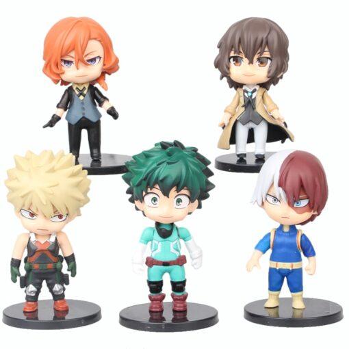 5pcs set My Hero Academia Figure Toy Midoriya Izuku bakugo katsuki Todoroki Shoto Iida Tenya PVC