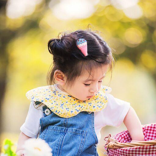 6 10pcs Girl Child Cute Baby Hairpin Kids Headwear Ice Cream Candy Cartoon Hairpin Headdress Hair 2