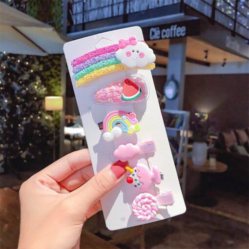 6 10pcs Girl Child Cute Baby Hairpin Kids Headwear Ice Cream Candy Cartoon Hairpin Headdress Hair 5