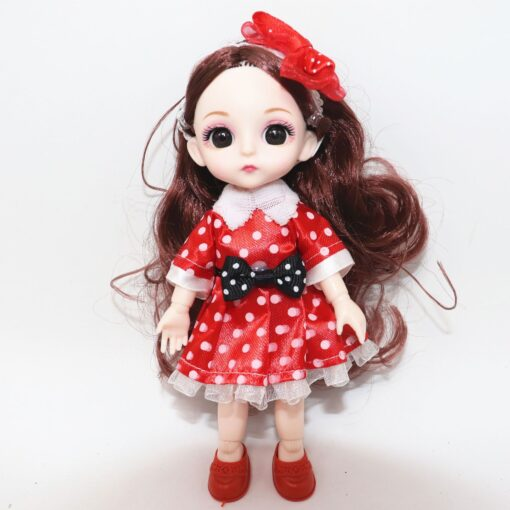 6 Inch Jionts Baby Doll BJD 1 8 Doll with Clothes Fashion Suit 16cm Doll Set 1