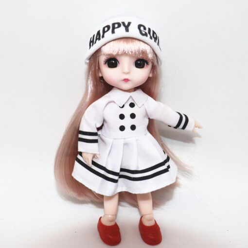 6 Inch Jionts Baby Doll BJD 1 8 Doll with Clothes Fashion Suit 16cm Doll Set 4