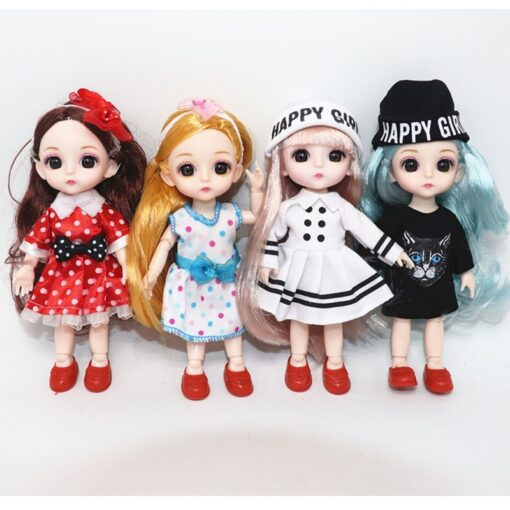 6 Inch Jionts Baby Doll BJD 1 8 Doll with Clothes Fashion Suit 16cm Doll Set