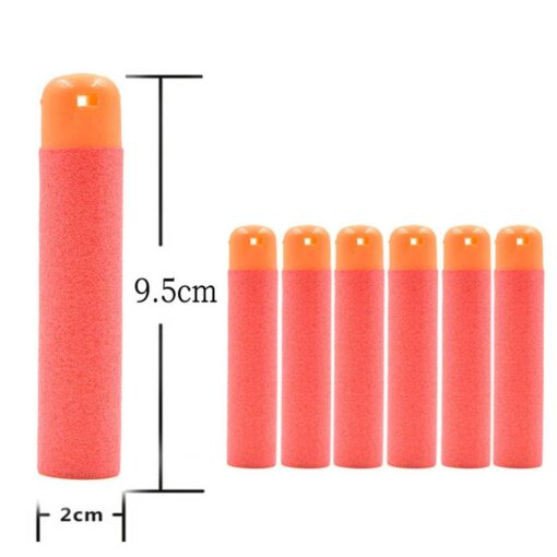 6 Pcs Hollow Soft Head 9 5cm Refill Darts for Nerf Series Blasters NEW STYLE Kid