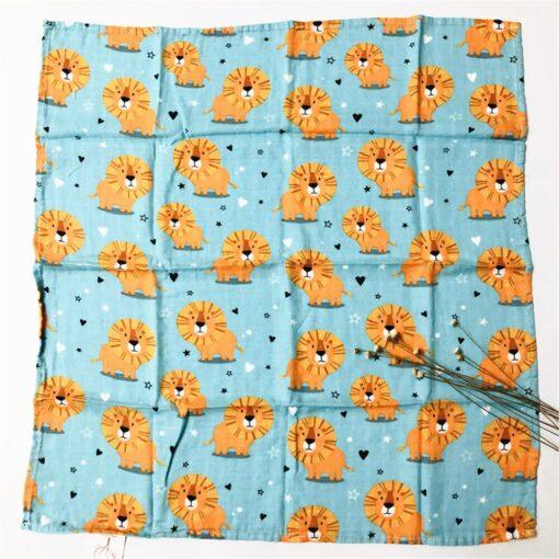 60 60cm Newborn Organic Cotton Bamboo Baby Blanket Muslin Swaddle Wrap Feeding Burpy Towel Scraf Bibs 5