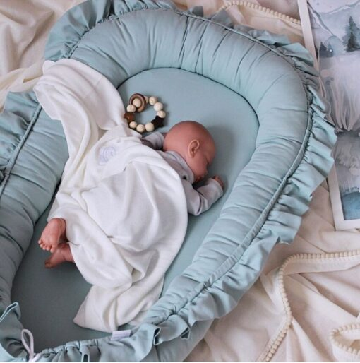 60 95cm Cribs For Baby Bad Portable Baby Nest Bed for Boys Girls Travel Bed Infant 2