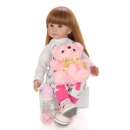 60 cm Newborn Girl Realistic Baby Dolls Cloth Body Stuffed Fashion Reborn Boneca Toy For Toddler 2