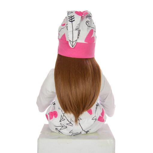 60 cm Newborn Girl Realistic Baby Dolls Cloth Body Stuffed Fashion Reborn Boneca Toy For Toddler 4