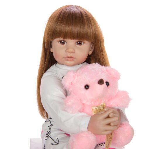 60 cm Newborn Girl Realistic Baby Dolls Cloth Body Stuffed Fashion Reborn Boneca Toy For Toddler 5