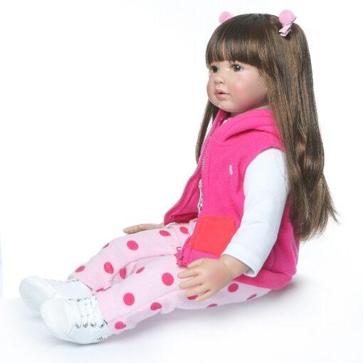 60CM NPK Boneca Reborn 24inch Soft Silicone Vinyl Doll 60cm Soft Silicone Reborn Baby Doll Newborn 3