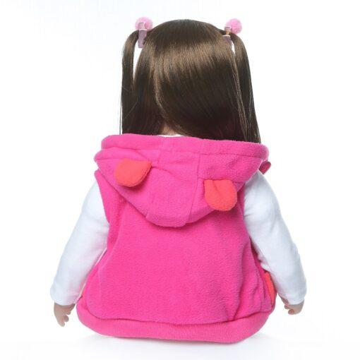 60CM NPK Boneca Reborn 24inch Soft Silicone Vinyl Doll 60cm Soft Silicone Reborn Baby Doll Newborn 4