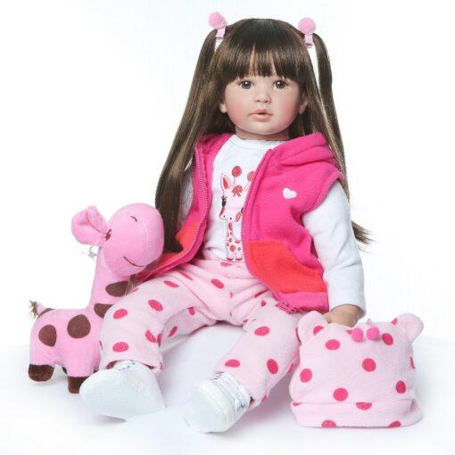 60CM NPK Boneca Reborn 24inch Soft Silicone Vinyl Doll 60cm Soft Silicone Reborn Baby Doll Newborn