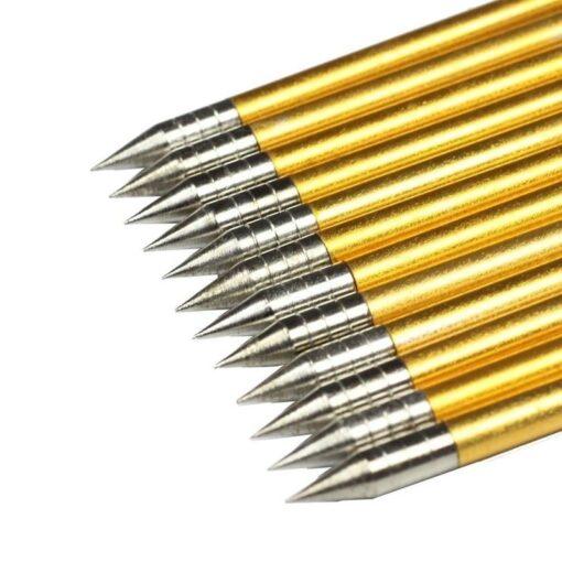 60pcs Archery Mini Crossbow Arrows Golden Aluminum Bolts 6 2 inch Broadhead Flecha For 50 lb 7