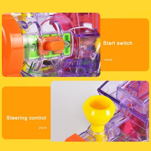 63pcs Electric Domino Car Train Vehicle Model Automatic Set Up Colorful Plastic Children Gift Lights Sound 4