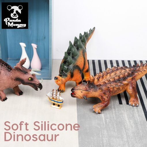 68CM Dinosaur Model Big Size Shark Plastic Puppets Tyrannosaurus Rex Velociraptor Jurassic Worlds Park Dinosaur Toys 1