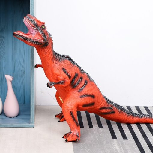 68CM Dinosaur Model Big Size Shark Plastic Puppets Tyrannosaurus Rex Velociraptor Jurassic Worlds Park Dinosaur Toys 3