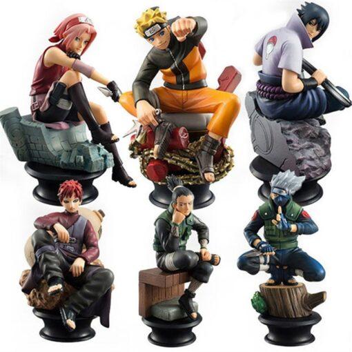 6pcs Set Naruto Actionable Dolls Chess New Pvc Anime Naruto Sasuke Jiala Model Decoration Decoration Gift