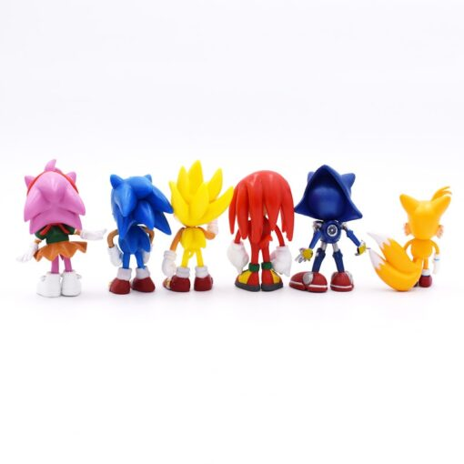 6pcs set 7cm Sonic Figures Toy PVC Toy Sonic Shadow Tails Characters Figure toy Free Shipping 2